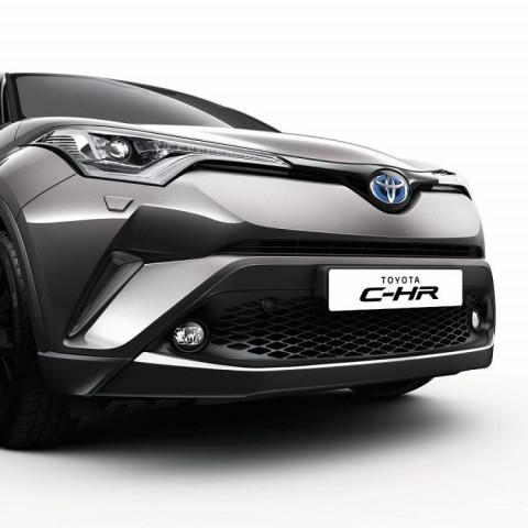 Хромований молдинг переднього бампера для Toyota C-HR