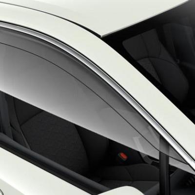 Вітровики прозорі з хром на передні вікна для Corolla