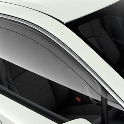 Вітровики прозорі з хром на передні вікна для Toyota Corolla