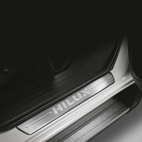 Алюмінієві накладки порогів для Toyota Hilux