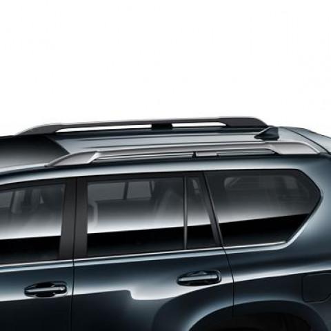 Рейлінги срібло для Toyota Prado
